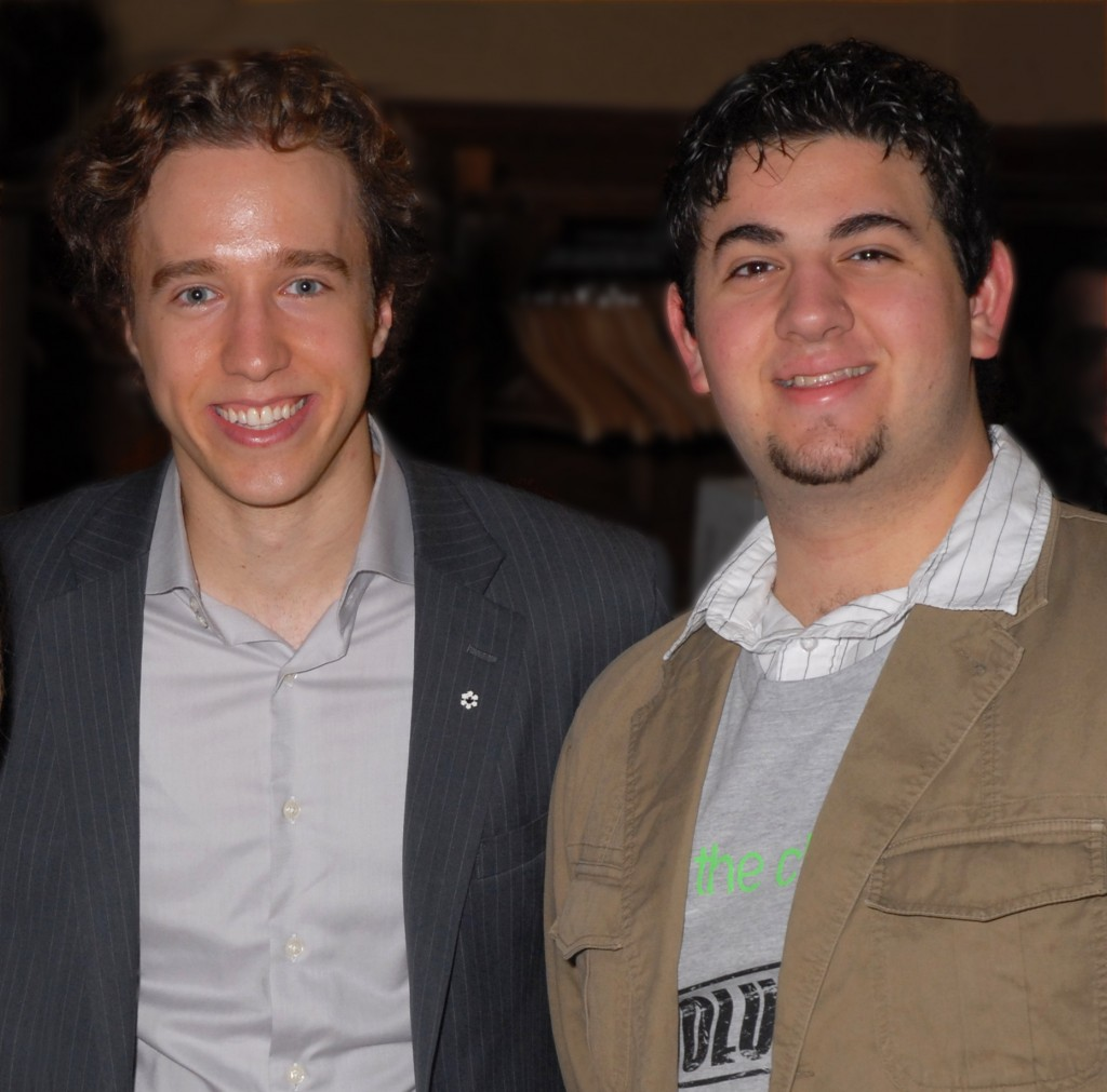 Daniel-Francavilla and Craig-Kielburger at local Democracy Week 2009 (Photo: Anastasia Tolias)